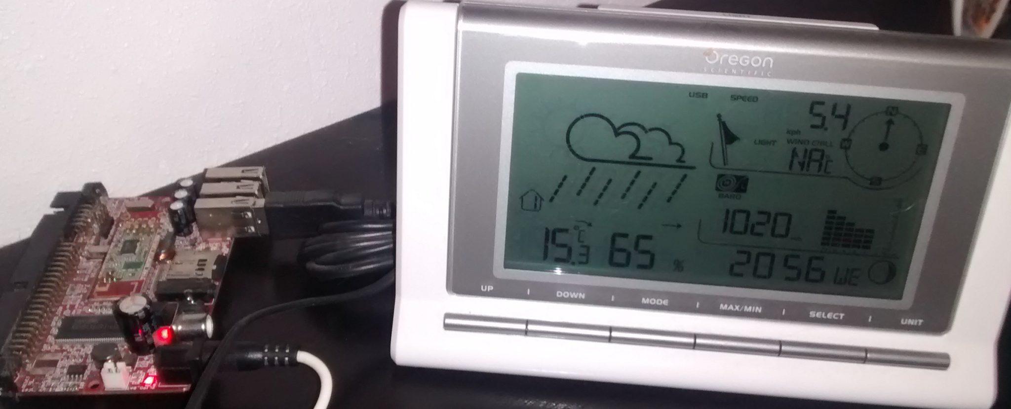 Estación meteorológica online con Olinuxino, weewx y Oregon wmr88